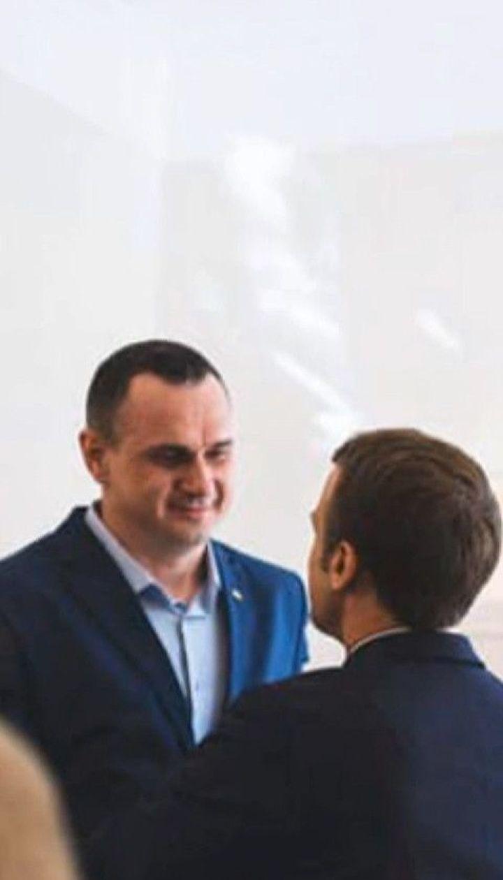 В кулуарах ПАСЕ Сенцов с Макроном пообщались о судьбе пленников Кремля