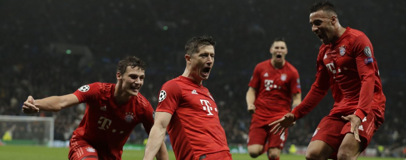 """Ліга чемпіонів. """"Баварія"""" в Лондоні забила сім м'ячів у ворота """"Тоттенхема"""""""