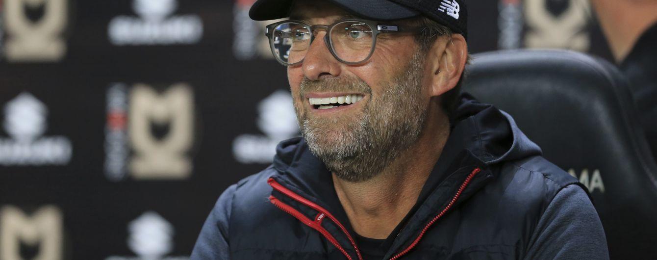"""В стиле Клоппа. Тренер """"Ливерпуля"""" пошутил над журналистом, который не смог выговорить сложное слово"""