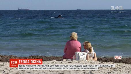 До +24 градусов по Цельсию поднялась температура 2 октября в Украине