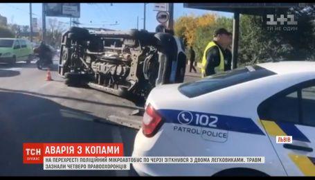 4 правоохранителя получили травмы в результате аварии, которую сами и спровоцировали