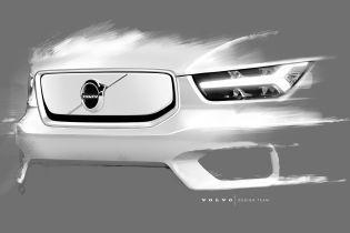Volvo показала тизеры своего первого электрокара