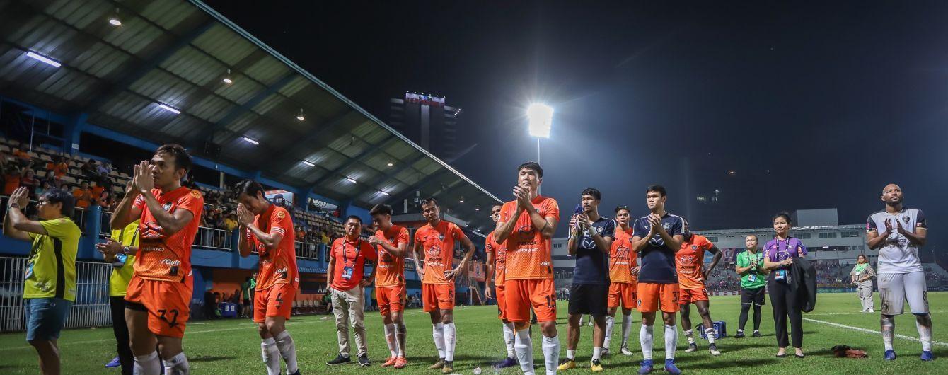Подвійна бісиклета. У Таїланді футболісти забили неймовірний гол на останніх секундах матчу
