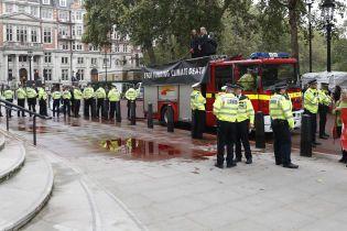 """Казус на протесте: в Лондоне активисты утопили в """"крови"""" королевское казначейство"""
