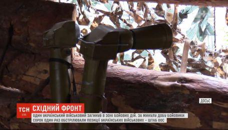 Бойовики 41 раз обстріляли позиції наших бійців за минулу добу