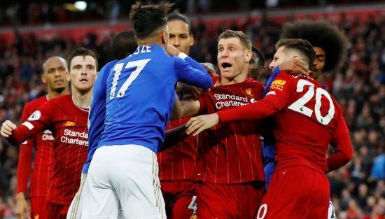 """Гравці """"Ліверпуля"""" та """"Лестера"""" влаштували колотнечу після драматичної розв'язки матчу"""