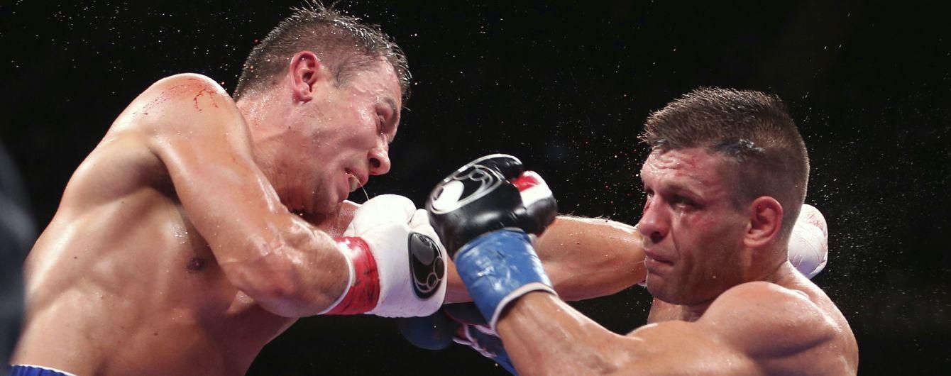 Деревянченко с глубоким рассечением проиграл чемпионский бой Головкину