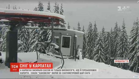 """Склоны """"Буковеля"""" покрыл 30-сантиметровый слой снега"""