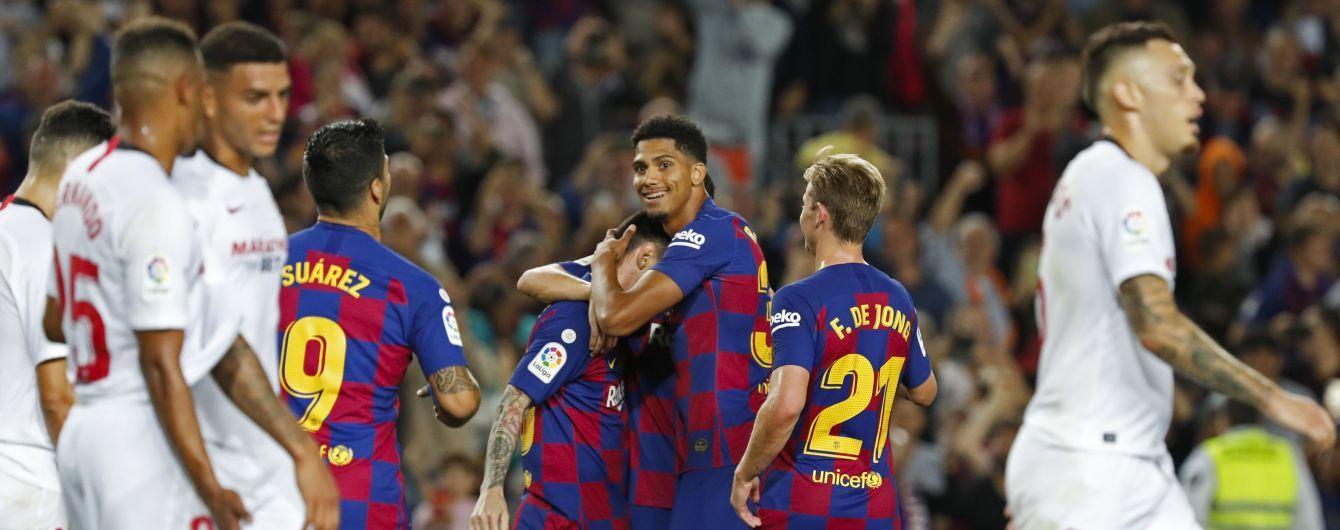 """""""Барселона"""" влаштувала погром """"Севільї"""", Мессі та Суарес відзначилися шедеврами"""