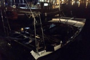 На Одесчине ночью сгорела яхта местного депутата