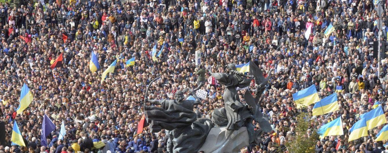В полиции озвучили количество участников акций в центре столицы