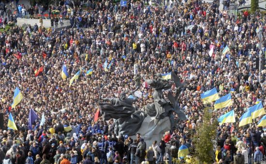 В поліції озвучили кількість учасників акцій у центрі столиці