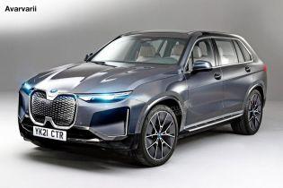 Серийный электрокроссовер BMW iNext показали на эскизе