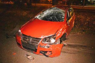 Пьяная компания устроила скоростную аварию в Киеве. Видео