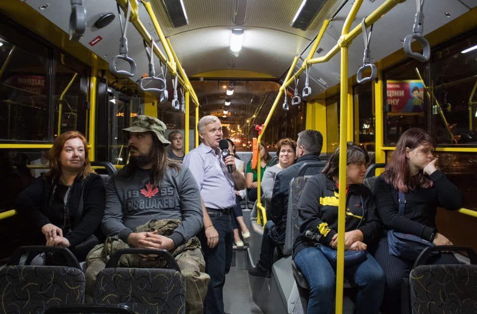 Києві, вечірня екскурсія тролейбусом