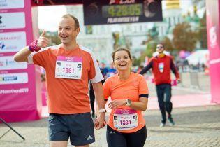 Маричка Падалко вместе с мужем пробежала 42-километровый марафон