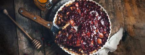 Бруснично-яблочный пирог