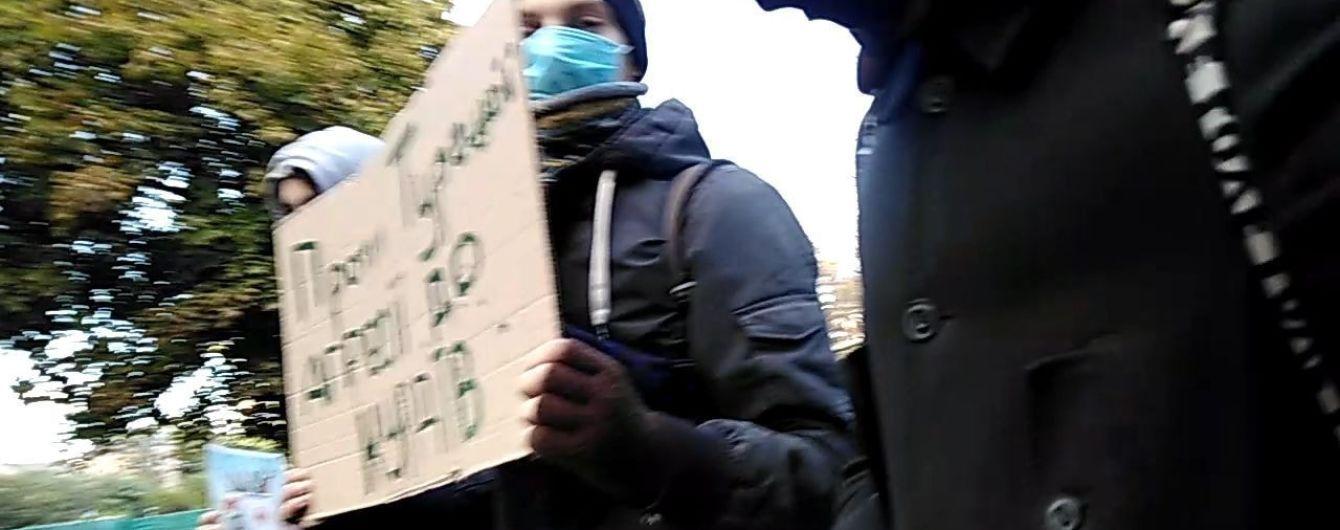 В Одесі поліція затримала активістів, які протестували проти турецького вторгнення у Сирію