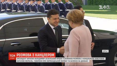 Зеленский провел телефонный разговор с Ангелой Меркель