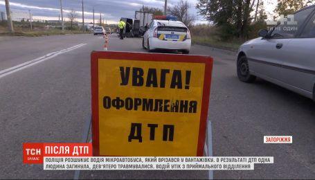 У Запоріжжі затримали водія маршрутки, який врізався у вантажівку, а потім втік від правоохоронців