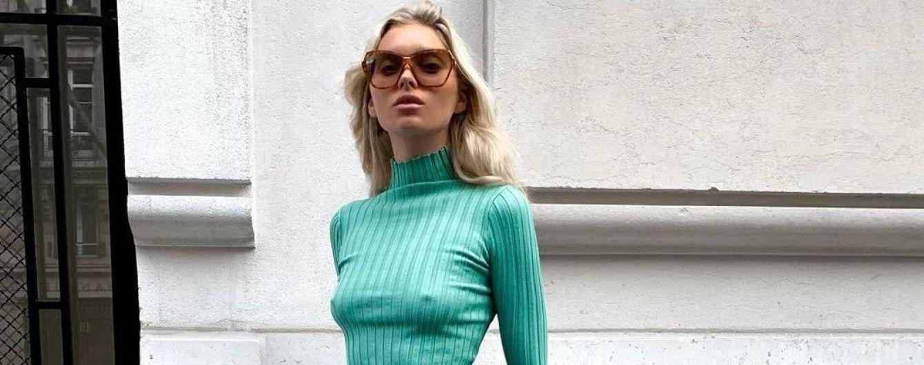 Надела топ без лифчика: Эльза Хоск в ярком луке прогулялась по Нью-Йорку