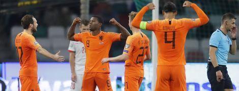 Нидерланды одолели Беларусь и возглавили отборочную группу Евро-2020