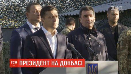 Президент Володимир Зеленський відвідав зону проведення ООС