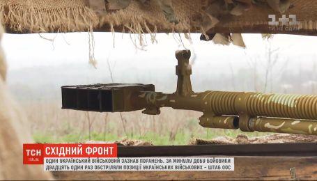 Боевики 21 раз обстреляли позиции украинских военных