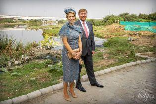 В кружевном платье и шляпке: королева Максима с мужем приехала с визитом в Индию