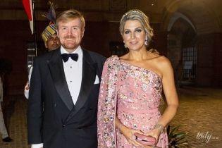 В вечернем платье и тиаре: королева Максима на президентском приеме в Нью-Дели