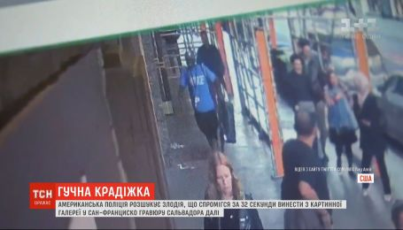 Поліція США розшукує злодія, який за 32 секунди поцупив з виставки цінну картину Далі