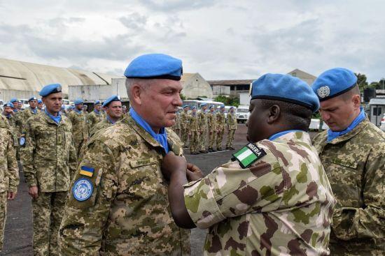 Місія ООН нагородила медалями понад 250 українських миротворців у ДР Конго