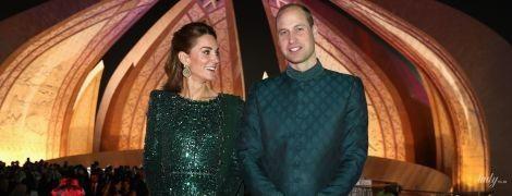 Герцогиня в вечернем платье, а принц в национальном костюме: Кембриджи на королевском приеме