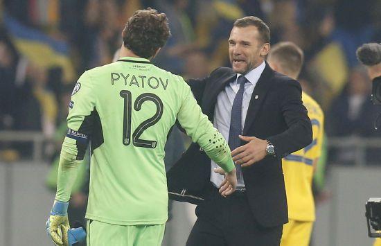 Пятов став найкращим воротарем відбору до Євро-2020