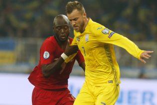 УЕФА отметил трюк Ярмоленко в матче отбора к Евро-2020 с Португалией