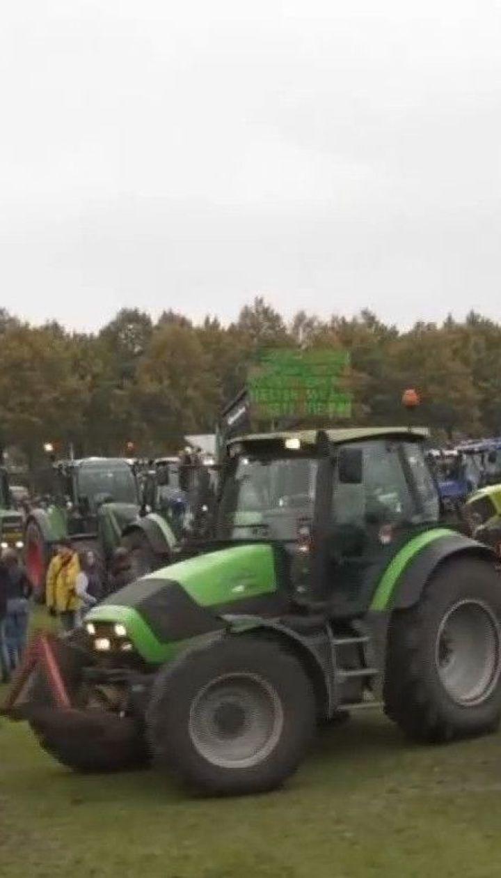 Нідерландські фермери влаштували акцію протесту на тракторах
