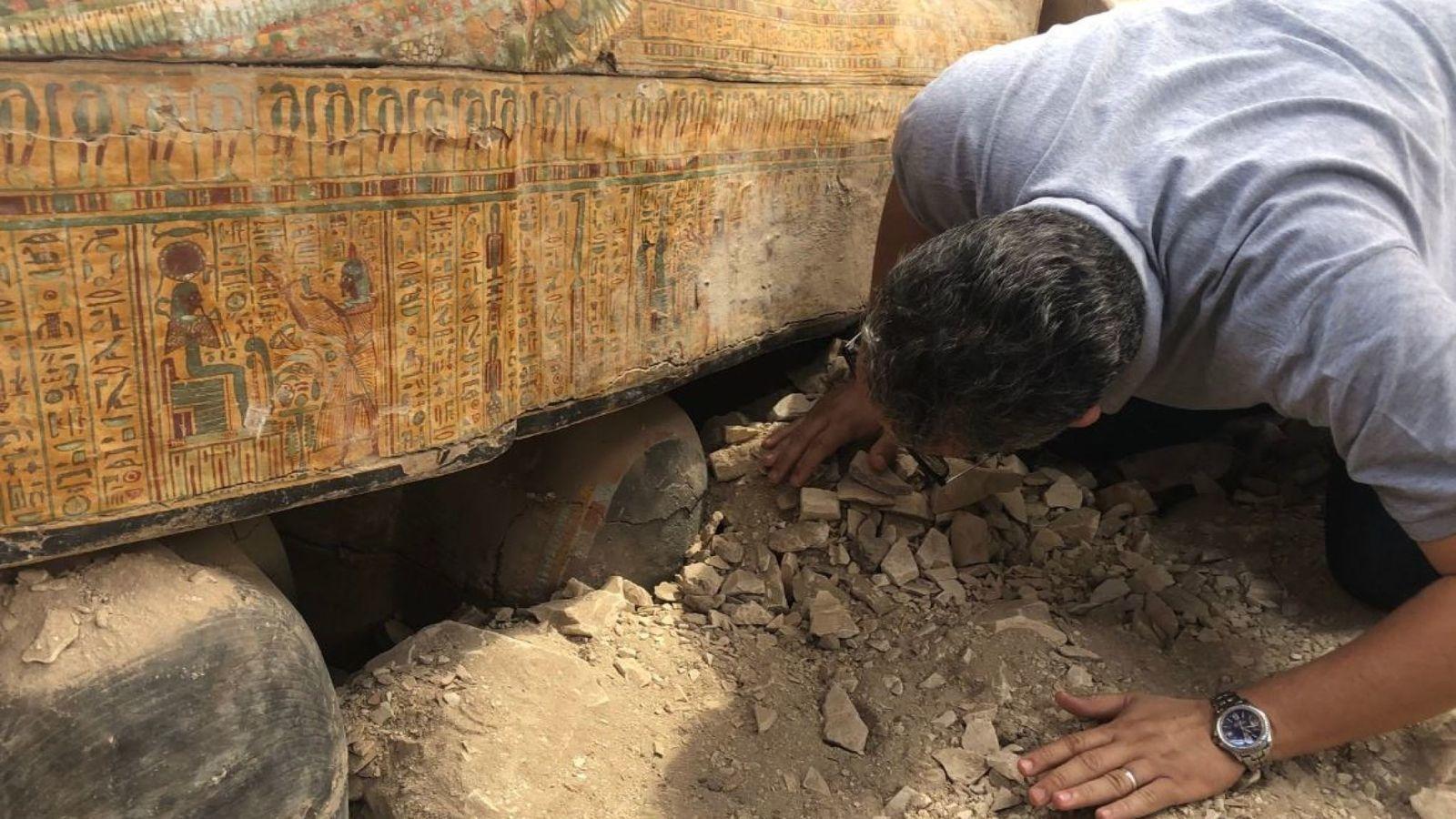 Египет,  Луксор 20 саркофагов