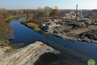 Бетонку Днепр-Решетиловка соединяют новым мостом. Фото