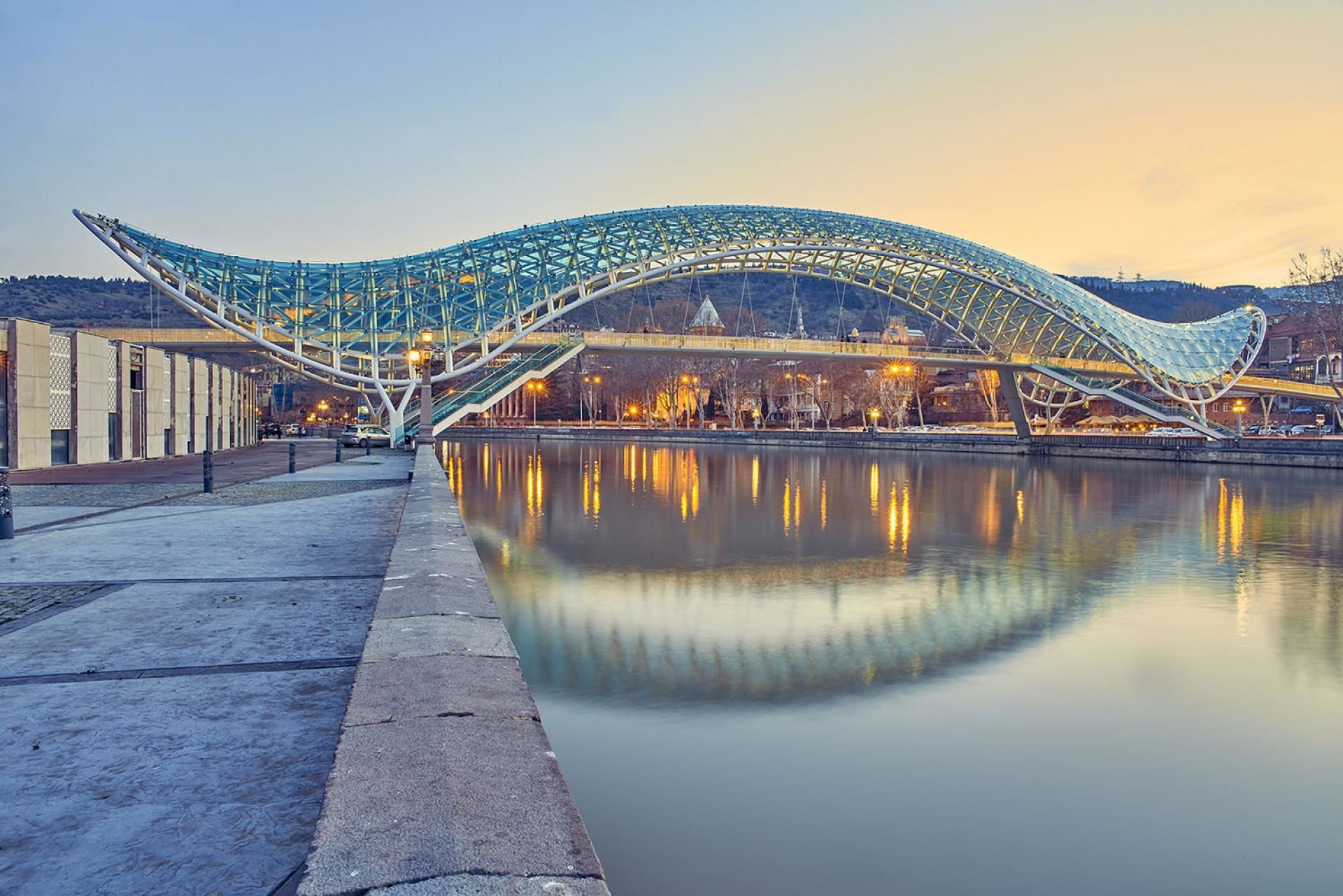 Тбилиси, мост Мира, Грузия