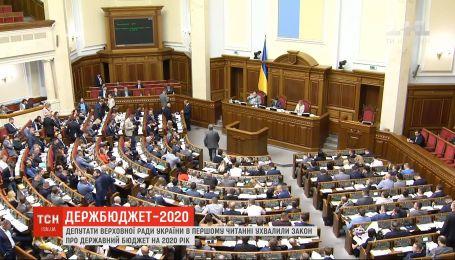 Верховная Рада в первом чтении приняла закон о Госбюджете на 2020 год