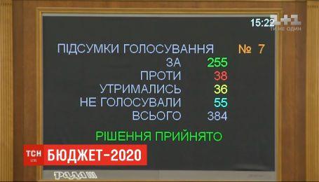 Рада приняла Госбюджет-2020 в первом чтении