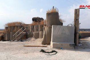 Сирийские СМИ показали фото брошенной военной базы США