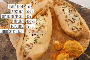 Рыба с лисичками - рецепты Сеничкина