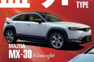 Первый электрокар Mazda рассекретили на тизере