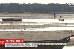 Самое глубокое озеро Украины Свитязь обмелело больше, чем на полметра