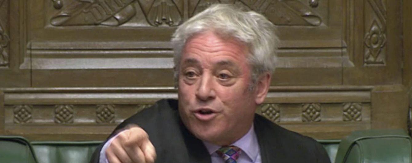 Спикер парламента Британии заблокировал повторное голосование за соглашение о Brexit