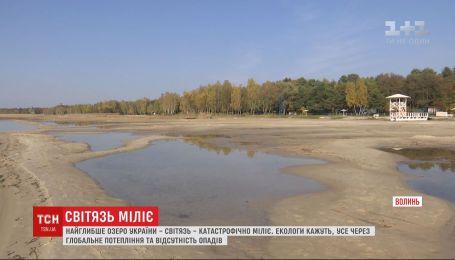 Самое глубокое озеро Украины - Свитязь - катастрофически мелеет
