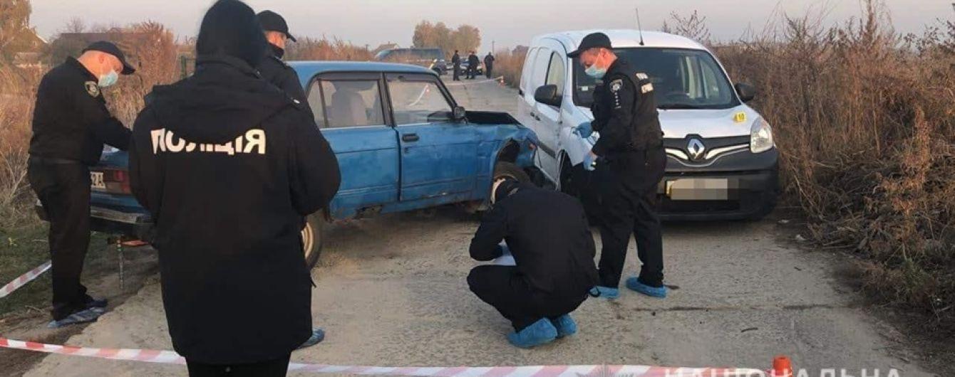 Под Броварами неизвестные устроили аварию со стрельбой