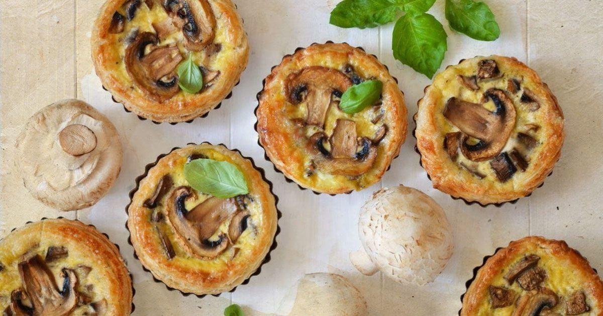 Пиріг з грибами у вершках