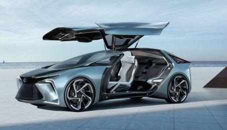 Lexus показал невероятный электрокар с дверями-крыльями